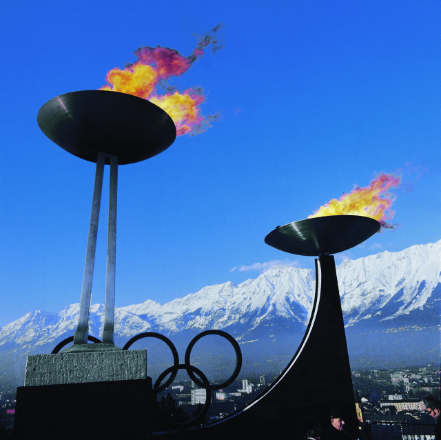 Olympic fire at Innsbruck