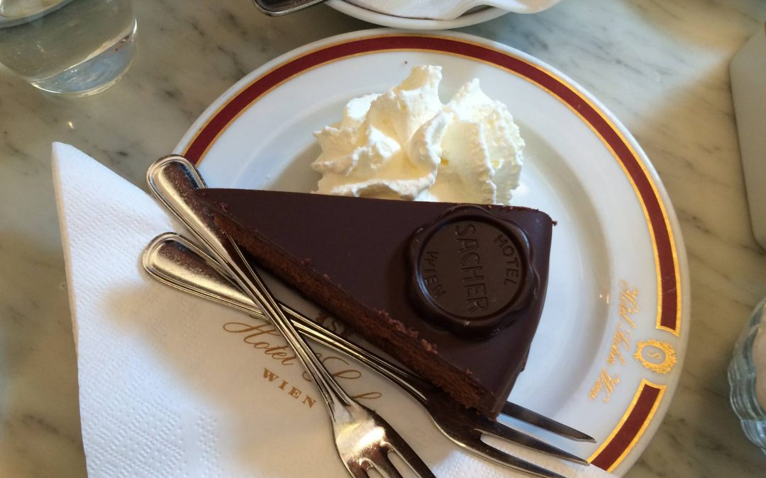 an original Sacher torte