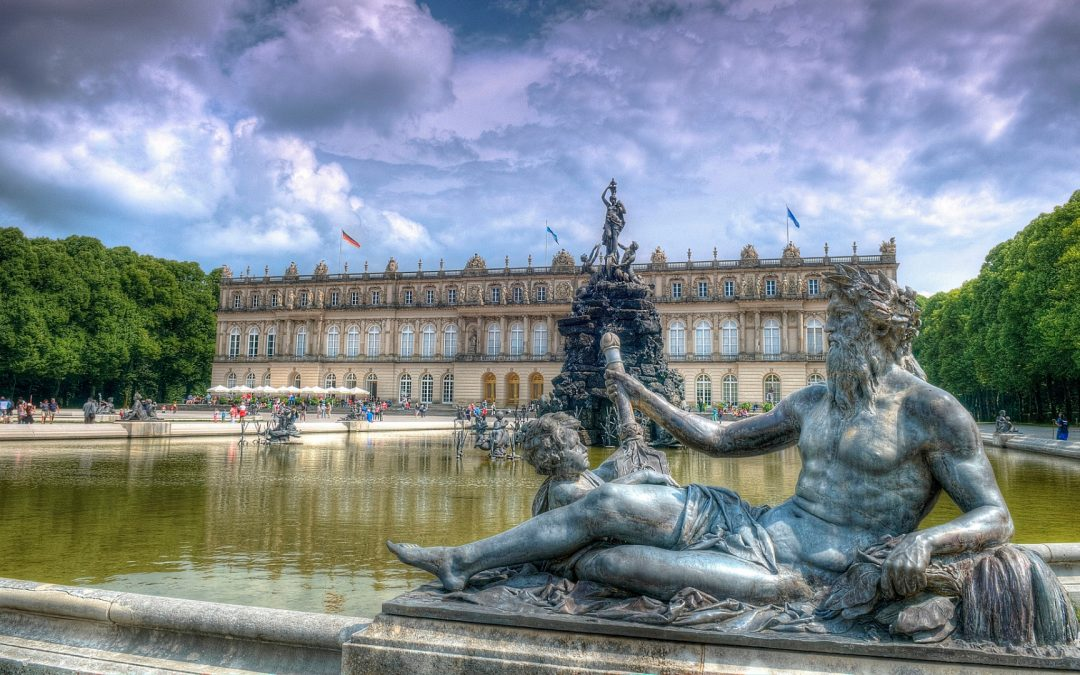palace Herrenchiemsee outside