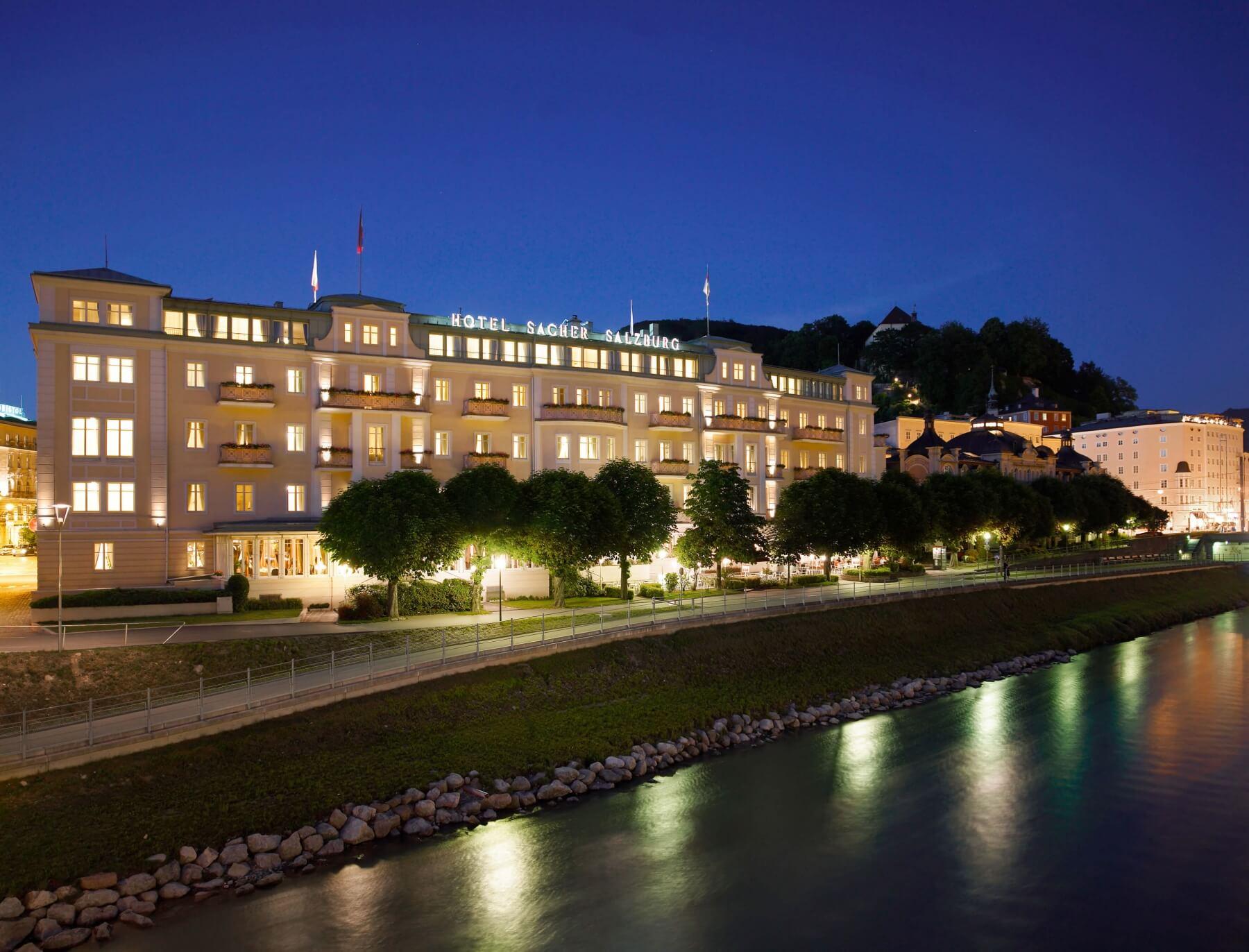 the Hotel Sacher of Salzburg