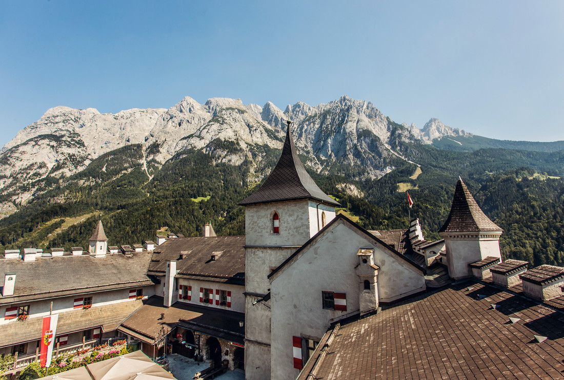 the mountains from the fortress of Werfen