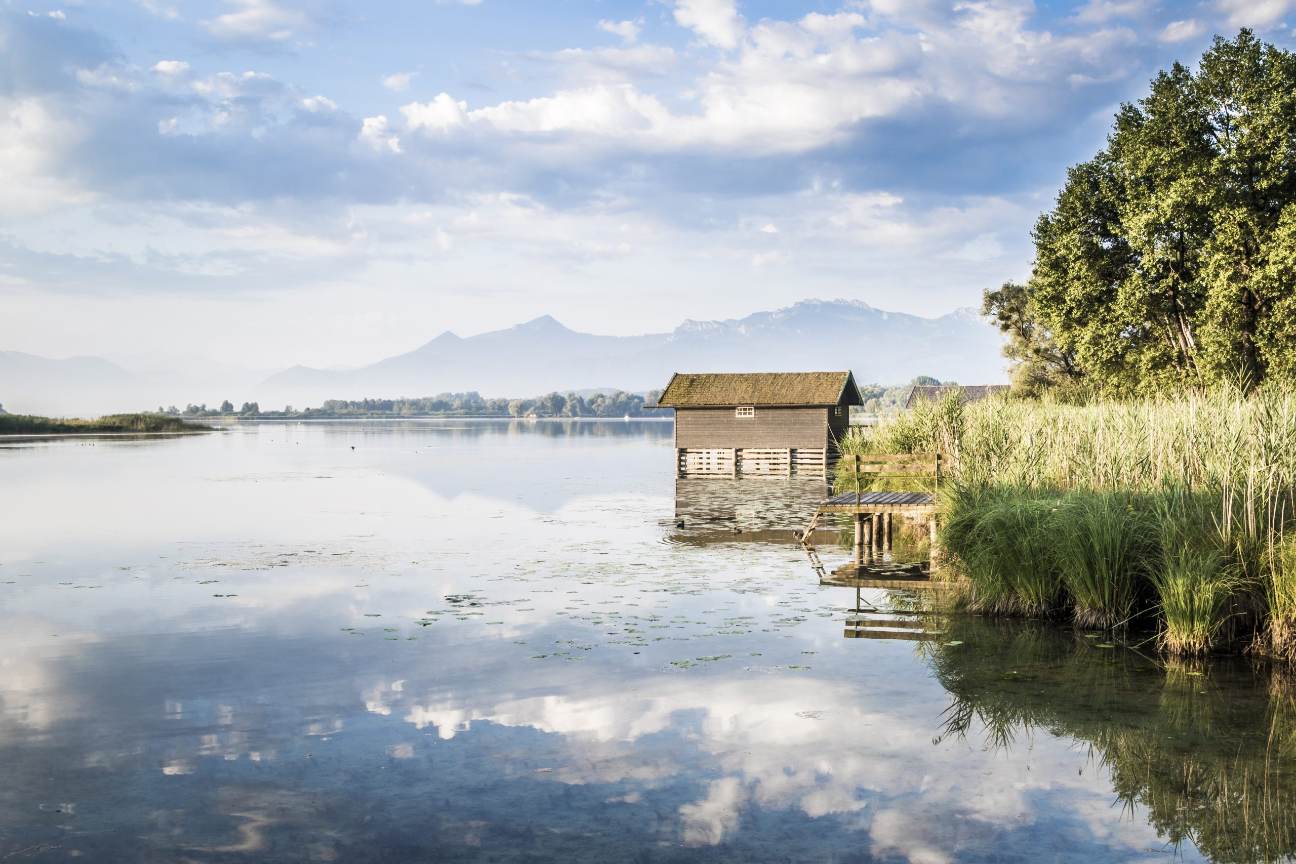 hut next to the men's island at Herrenchiemsee