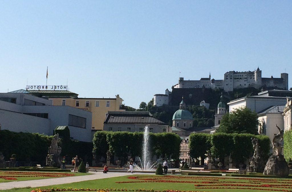mirabell garden and fountain