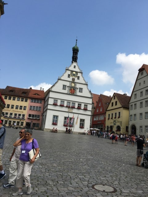 city hall at Rothenburg