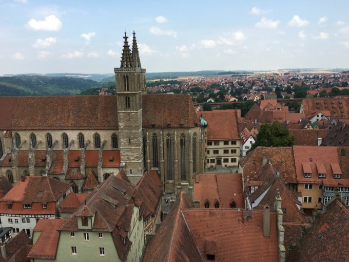 view over Rothenburg