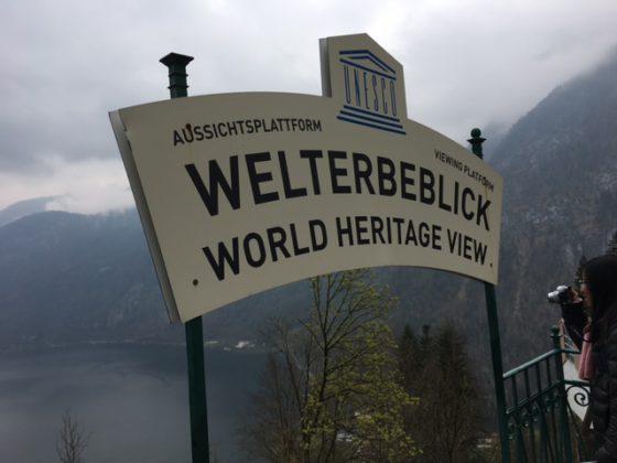 visitor's platform of Hallstatt