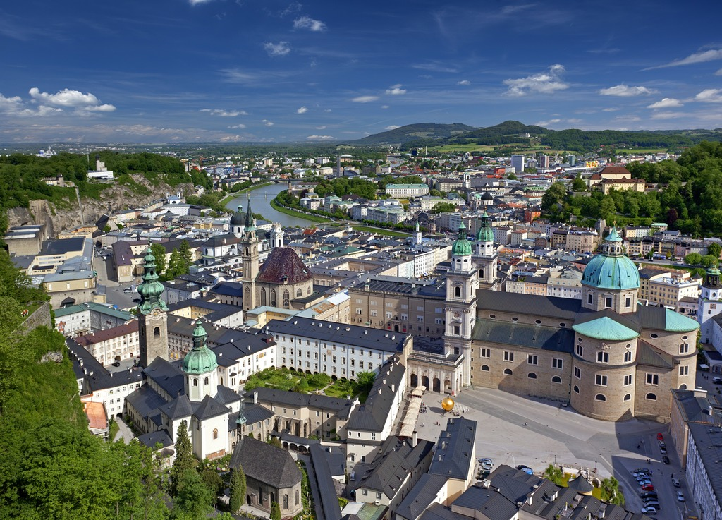 view from the fortress of Salzburg