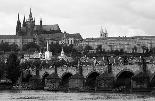 charle's bridge with prague castle