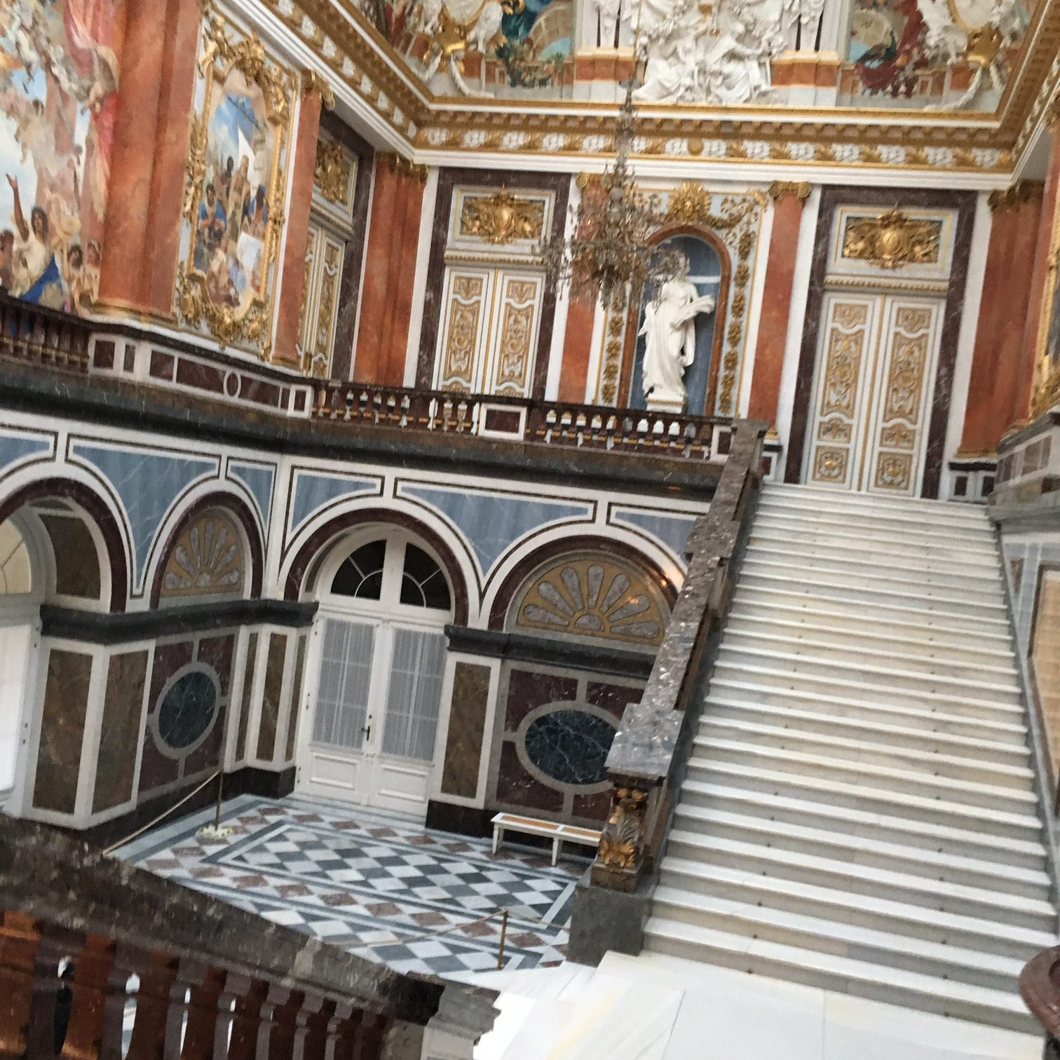 staircase at Herrenchiemsee