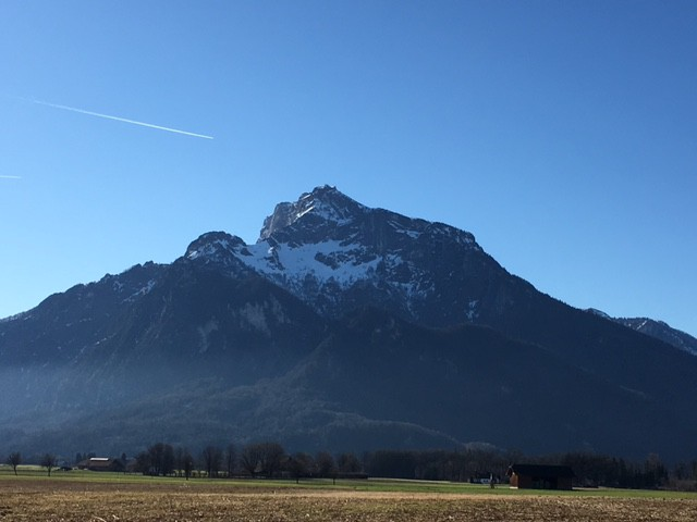 untersberg mountain from Salzburg