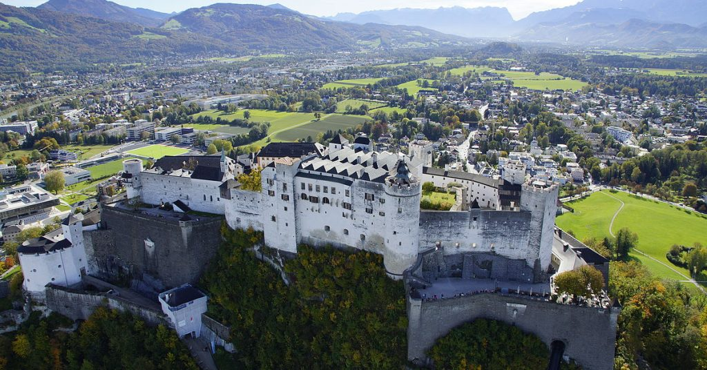 fortress of Salzburg from above