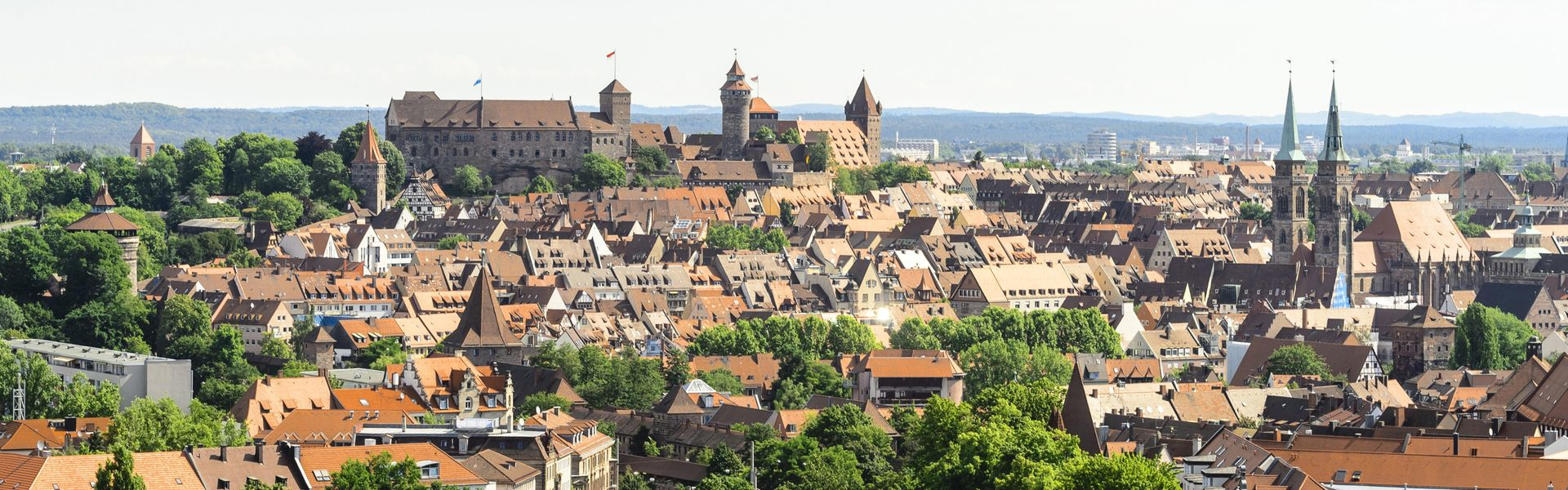 Nuremberg old town with castle