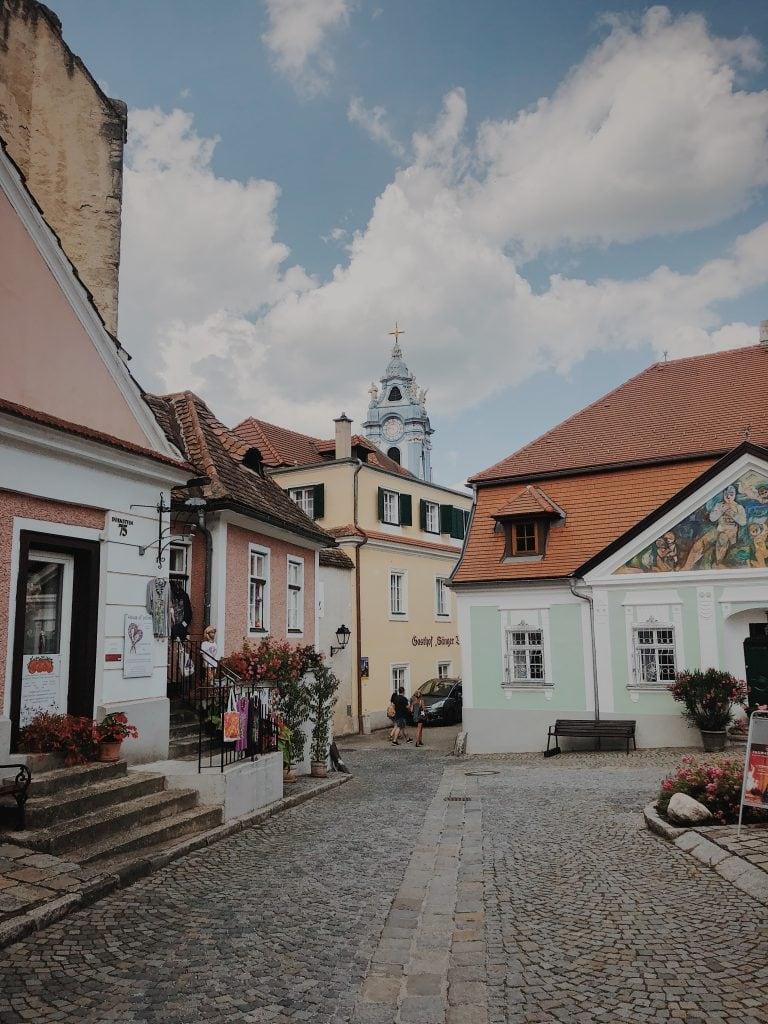 View within the village of Duernstein