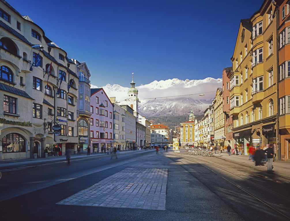the city of Innsbruck center