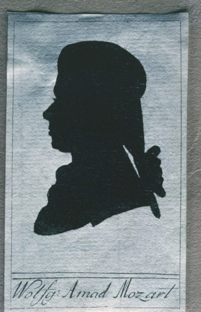silhouette of Mozart