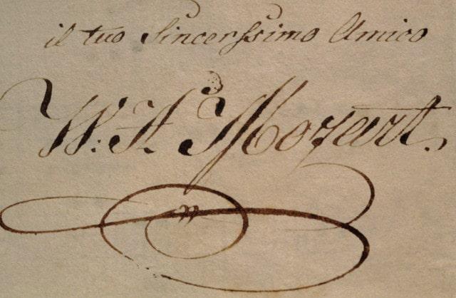 Mozart's signature