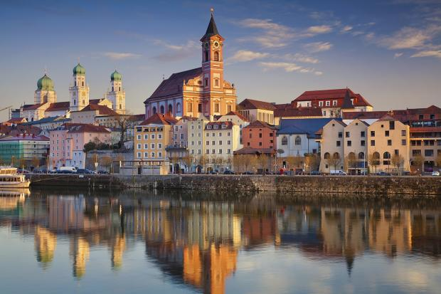 Passau view from Danube side