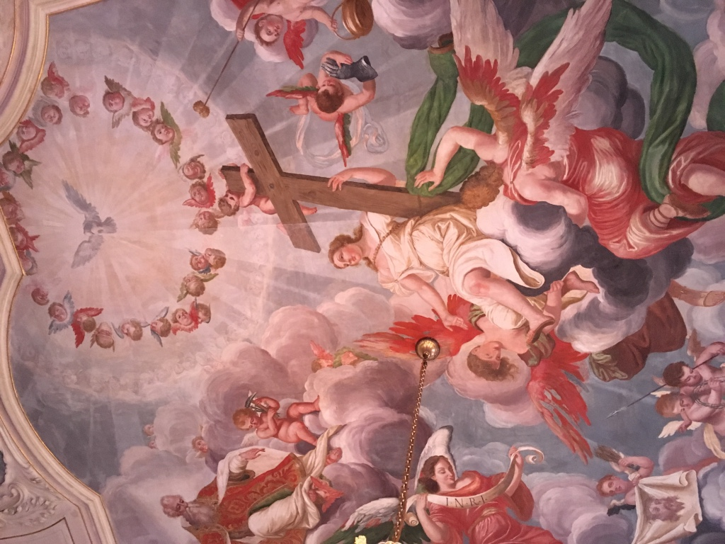 ceiling fresco of chateau Troja